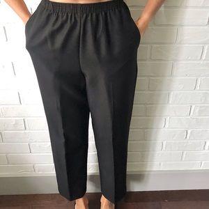 Loose high waist straight leg pull on trousers